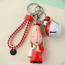 Hot Journey To The West Keychains Cartoon Cute New Sun Wukong Car Key Chain Boy Bag Pendant Keyring Lovers Holiday Gifts the journey to decorative the west q version monkey led night light king sun wukong golden cudgell kid cartoon 3d lamp optica