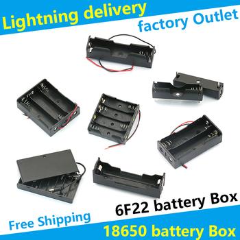 18650 pojemnik na baterie 6F22 9V pojemnik na baterie DIY baterie zacisk mocujący CR2032 6V gniazdo baterii sposób tanie i dobre opinie Battery Storage Box