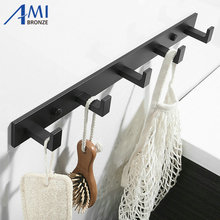 Thicken Space Aluminum Robe Hooks Wall Hang Mounted Towel Hook White / Black Painted  Clothes Hook Bathroom Hardware