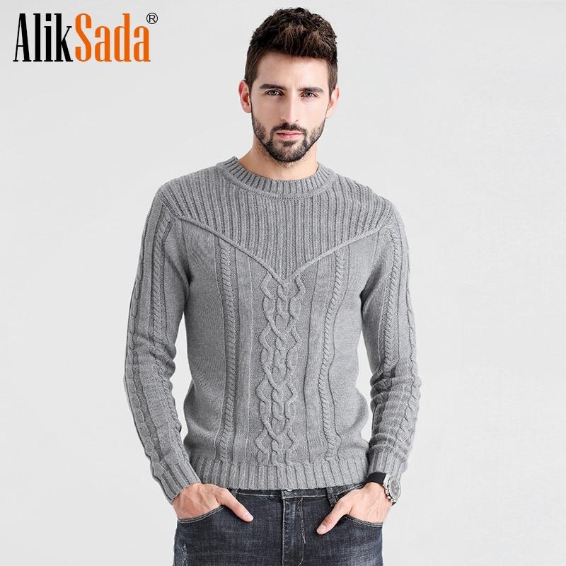 Men 2020 Autumn Winter England Style Jacquard Pattern Sweater Pullovers Men Casual Outfits Cotton Warm Knitwear Sweater Coat Men