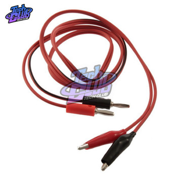 1Pcs 1meter Double Red and Black Banana plug Clips Crocodile Cable Alligator Jumper Wire Test Leads image