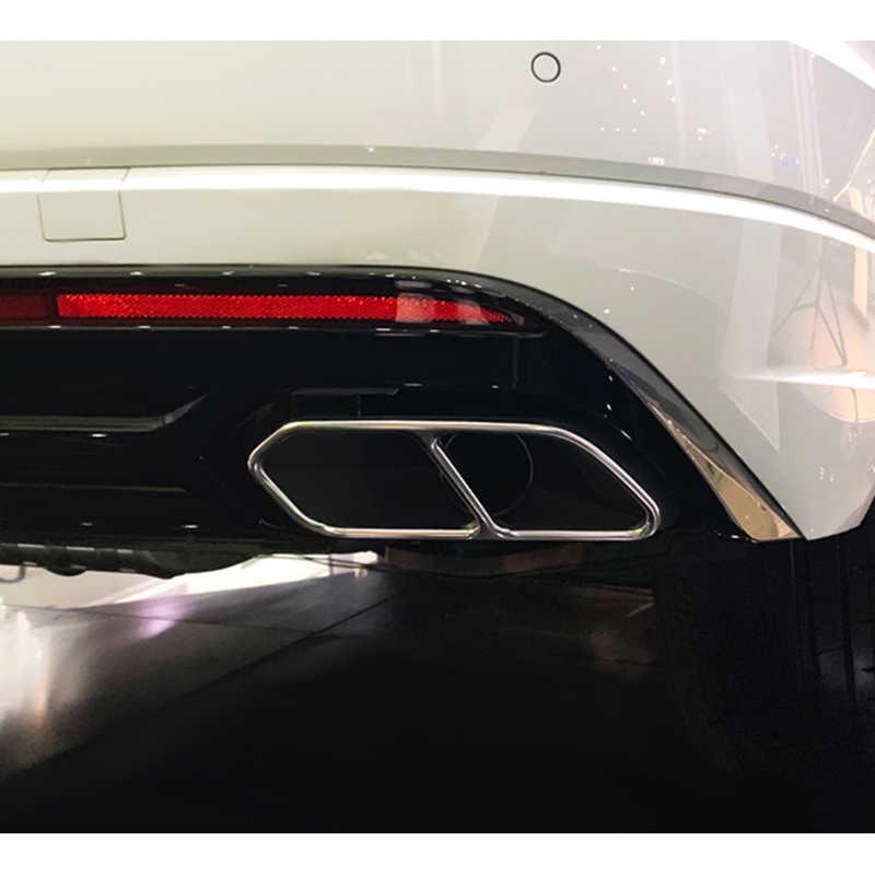 2 pçs/set SEEYULE Garganta Cauda Silenciador de Escape Traseira Do Carro Decoração Ponta Do Tubo Boca Acessórios Capa para VW Volkswagen Touareg 2019