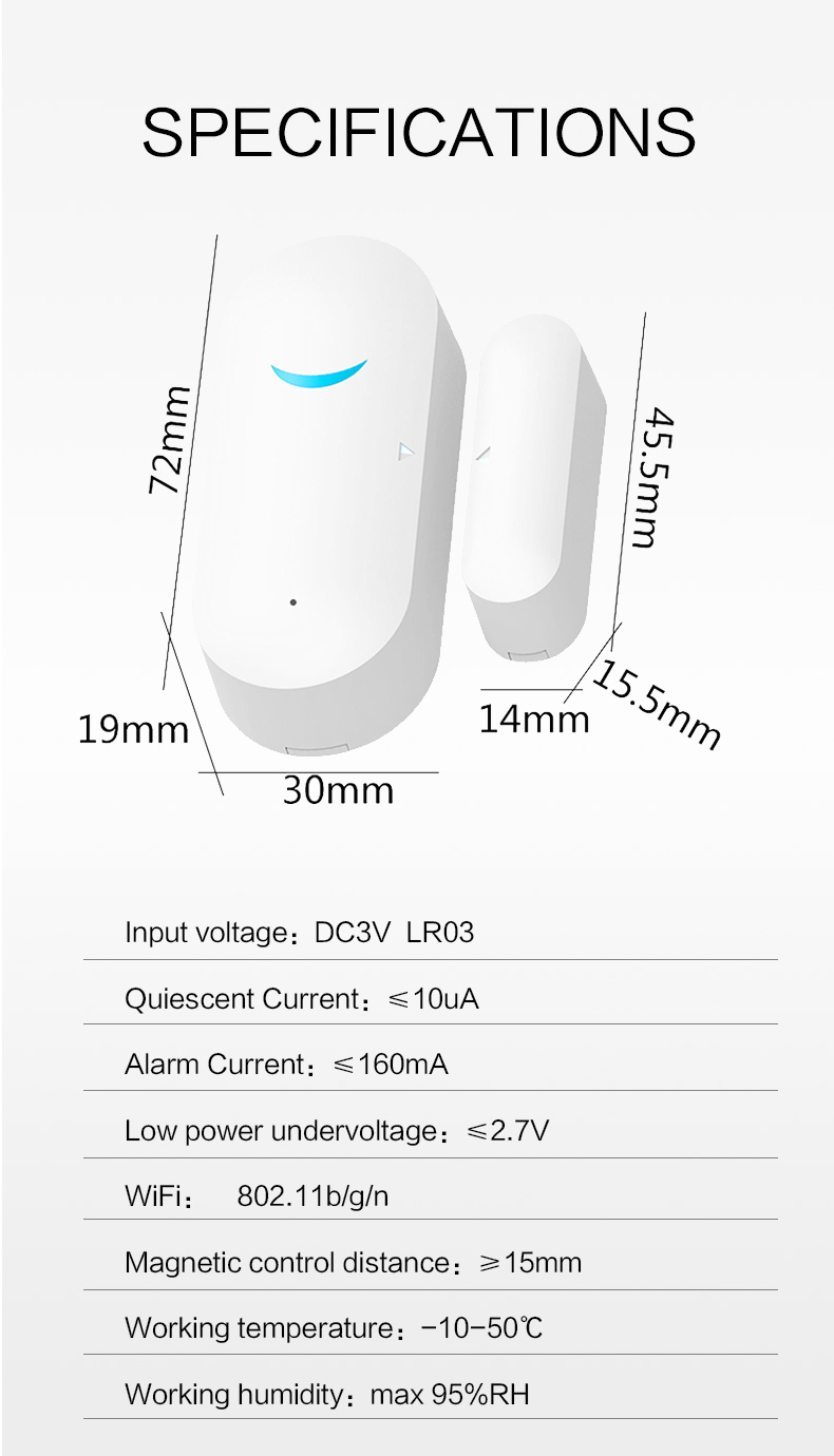 wifi tuya door sensor - 7
