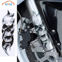 2 Pcs/Pair האוניברסלי אופנוע קדמי מזלג גולגולת מדבקות גרפי מדבקות עבור אופנוע
