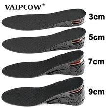 3-9cm altura invisível aumento palmilha almofada altura elevador ajustável corte sapato calcanhar inserção mais alto suporte absorvente pé almofada