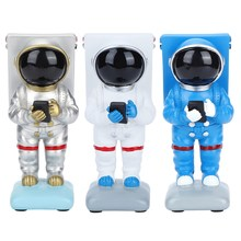 Resin Astronaut Shaped Mobile Phone Holder Figurines Miniatures Craft Home Desktop Decoration(China)