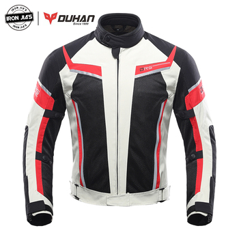 DUHAN Motorcycle Jacket Men Summer Breathable Motocross Protective Gear Racing Chaqueta Moto Jacket Motorcycle Riding Jacket