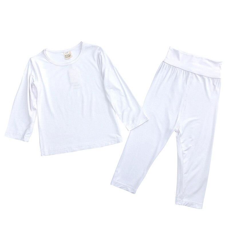 LZH 2020 Autumn Winter Children's Thermal Underwear Cotton Baby Girls Clothes Home Baby Boy Underwear Set Solid Color Pajama Kid