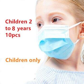 10's Pack Children's Dustproof Disposable Earmuffs Dustproof Face Mask Face Protective Mask Child Mask Mascaras infantiles 2