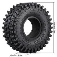 INJORA 4PCS 130*46MM 2.2 Rubber Terrain Tyre Wheel Tires for 1/10 RC Rock Crawler Axial SCX10 RR10 Wraith KM5 2