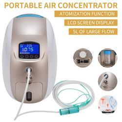 Concentrador de oxígeno portátil generador Mini máquina de oxígeno 1-5L/min purificador de aire ajustable uso médico doméstico