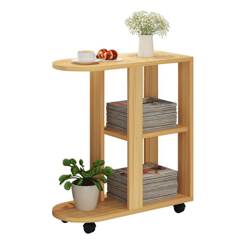 Modern Living Room Sofa Corner Coffee Table Imitation Wood Side Cabinets Bedside Coffee Table