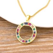 Collier arc-en-ciel à la mode pour femmes, pendentifs multicolores, couleur or, bijoux à longue chaîne, meilleur cadeau de fête d'anniversaire