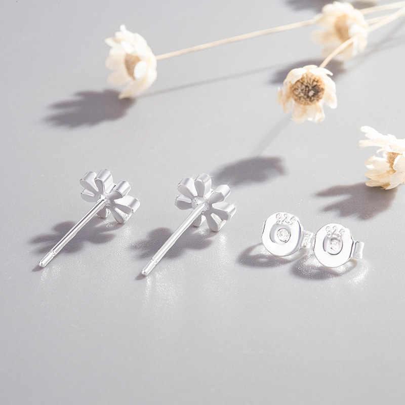 XIYANIKE Bạc 925 Ngăn Ngừa Dị Ứng Bông tai Nữ Thời Trang Mới hoa Mặt Trời Nhỏ Tai Treo Tường Cưới Trang Sức