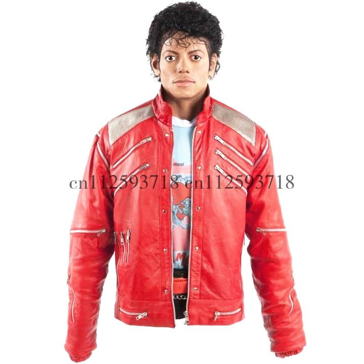 MJ Michael Jackson Beat It Jacket In Red