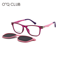 O-Q CLUB Kids Sunglasses Polarized Magnetic Clip-on Boys Girls Glasses TR90 Myopia Prescription Comfortable Eyeglasses T3102