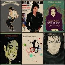 Compra tres para enviar uno Michael Jackson vintage kraft home art poster sala de estar bar Café bar decoración pintura