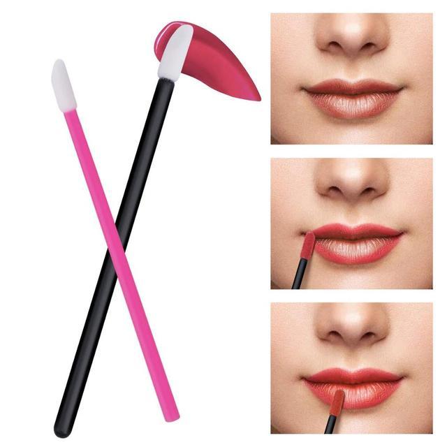 150 Pcs Disposable Lip Brush Makeup Brushes Pen Lipstick Mascara Wands Brush Cleaning Eyelash Cosmetic Brush Applicators 5