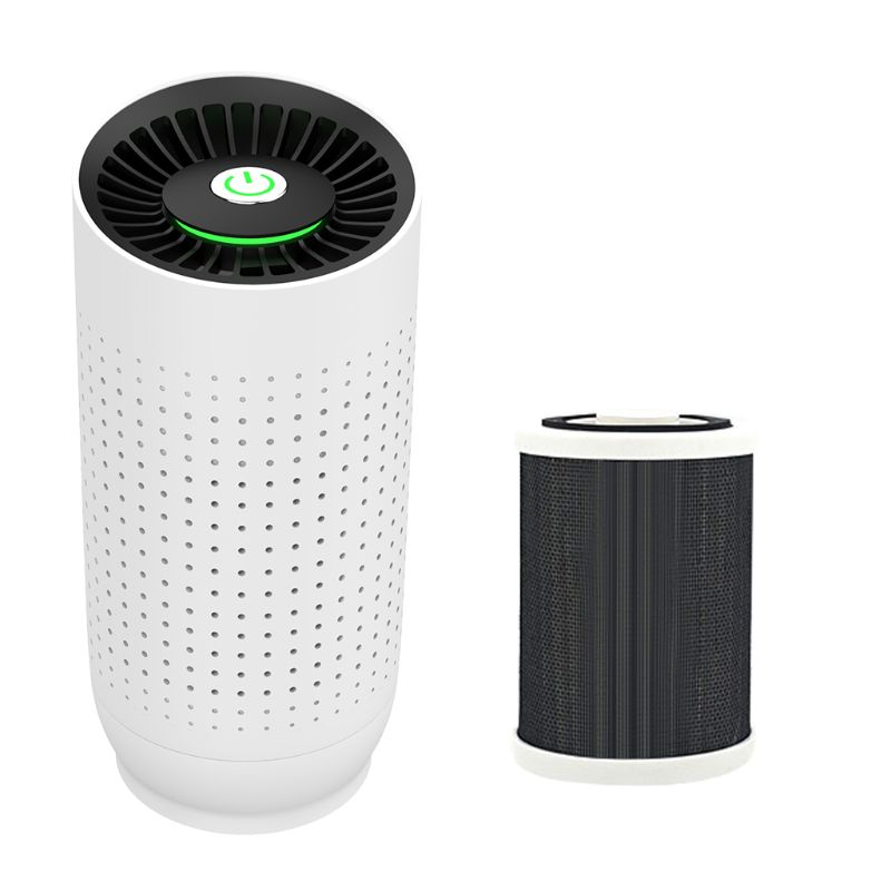 Portable Mini Car Air Purifier Freshener USB Chargeable Negative Ion Generator W91F