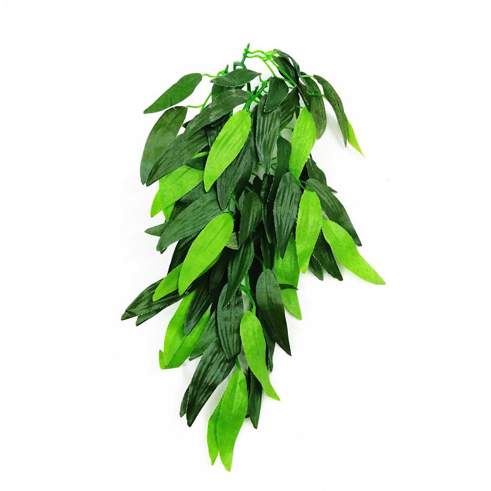 12 Inch Plastic DIY Ornament Artificial Vine For Reptile With Suction Cup Handmade Fake Simulated Plant Hanging Pet Supplies
