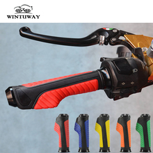 WINTUWAY Motorcycle Handle bar Caps / Handlebar Grips Quality Soft Glue Universal Street & Racing