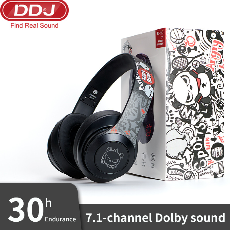 New Wireless Headphones Bluetooth Headphoe Foldable Stereo Headset <font><b>Gaming</b></font> <font><b>Earphones</b></font> <font><b>With</b></font> <font><b>Microphone</b></font> For PC Mobile phone Mp4 MP3 image