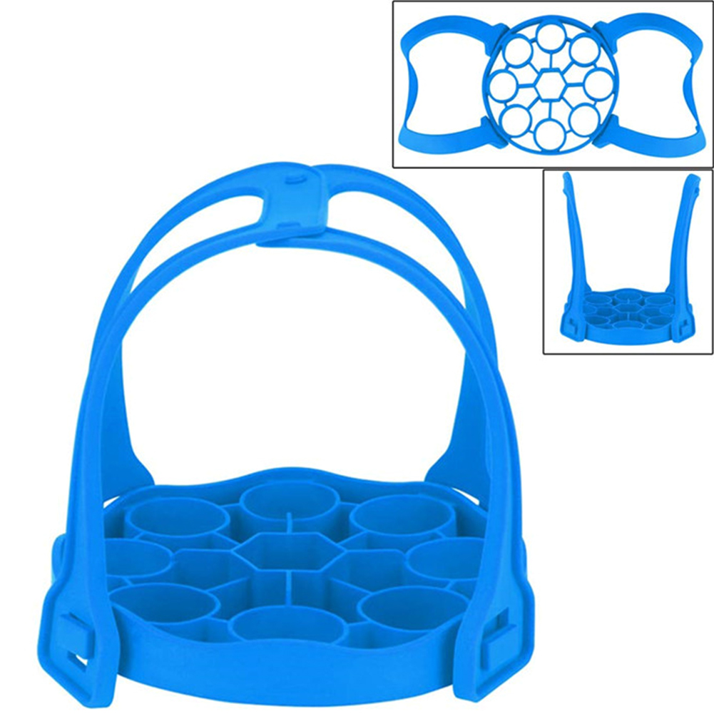 Detachable Pressure Cooker Sling Drain Pad Egg Rack Dual Handle Heat Insulated Bakeware Lifter Silicone Steamer Mat Anti Slip