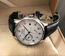 Fivela de borboleta 43mm, parnis white dial, reserva de energia automática, movimento mecânico para homens, relógios mecânicos pa12 20