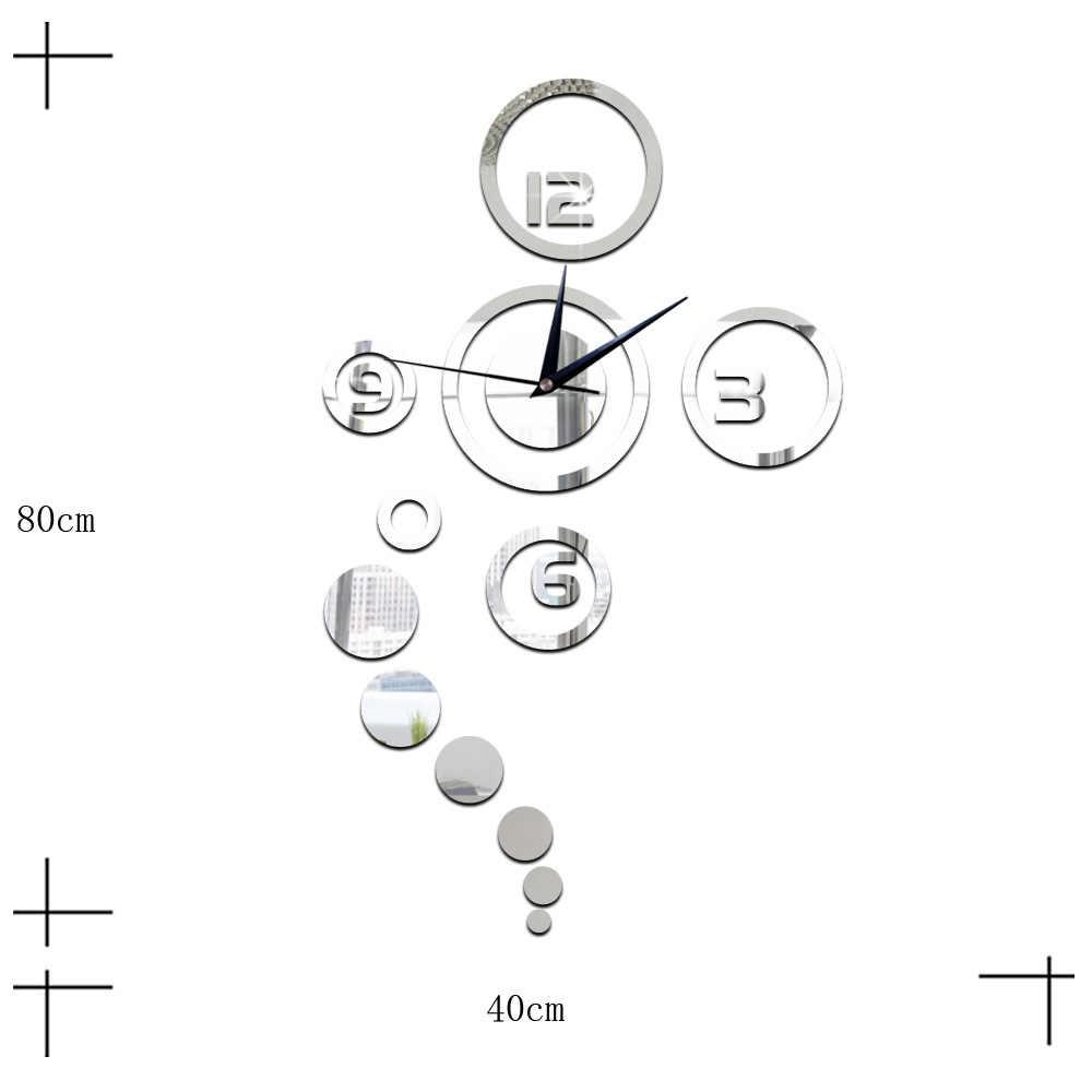Twórcze lustro naklejki 3D DIY Moment igła kwarcowa zegarek zegary ścienne akrylowe strona główna DIY sypialnia nowoczesna dekoracja wnętrz nowość