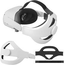 Coussin en mousse pour Oculus Quest 2, antidérapant, soulage la pression, confortable, sangle de tête, accessoires VR