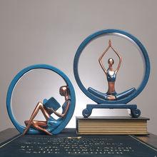 Статуя для йоги из смолы статуи украшения девушки скандинавский