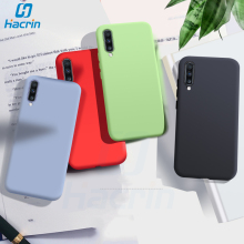Hacrin Case For Samsung Galaxy A70 Case Soft Liquid Silicon Rubber Back Cover For Samsung A70 A 70 Case Full Protective Bumper цена
