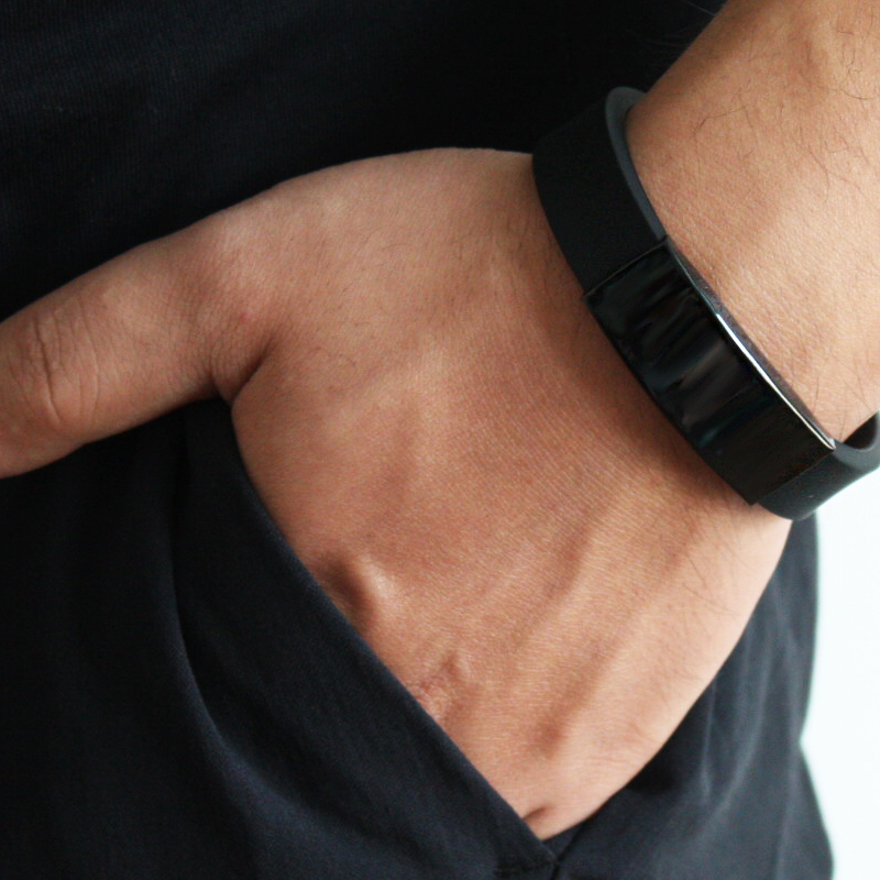 Mens Titanium Steel Handwear Stainless Charm Silicone Bracelet Simple Fashion New Design Dropshipping
