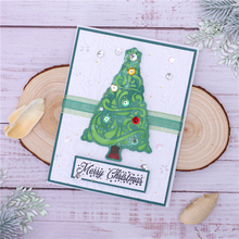 InLoveArts  Christmas Tree Dies Background Metal Cutting Dies for Card Making Scrapbooking Embossing Album Craft Frame Die Cuts inlovearts christmas dies tree metal cutting dies new 2019 for card making scrapbooking embossing album craft frame die cuts
