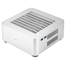 L80S Computer Cases Aluminium Chassis Desktop Mainframe mit Usb 3,0 Port Hohl für Spiel Chassis Diy Mini Pc Itx Fall silber(China)