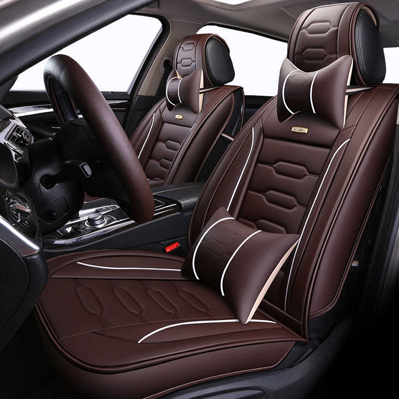 フルカバレッジエコ革自動席は pu 革カーシート用カバークリオローガンルノーサンデロフルエンス megane ラグナラティ
