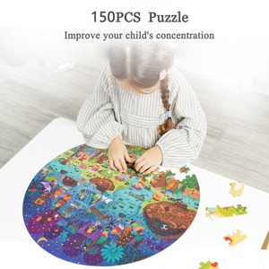 Image 3 - Mideerパズル150個パズルおもちゃ知育玩具ハンド塗装ジグソーパズルボードスタイルパズルボックスセット子供のためのギフト3 6Y