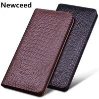 Luxury flip calfskin genuine leather case coque for Nokia X6 2018 magnetic cover Nokia X71/Nokia X7/Nokia X5 phone case funda