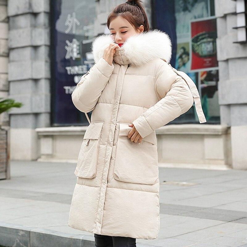 Winter Jacket Women 2019 Winter Long Parkas Coat  Warm Causal Hooded Parkas Jacket Women Coat
