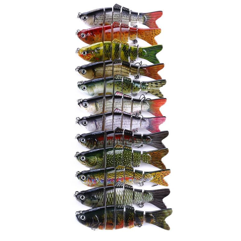 Swimbait-Lure Fishing-Tackle Multi-Jointed 6-Segment 10cm 18g Lifelike title=