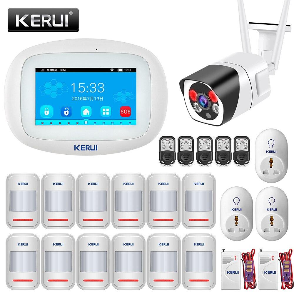 KERUI WIFI GSM Alarm System K52 4,3 Zoll Full Touch Screen Home Security Buglar Alarm System Smart APP Fernbedienung