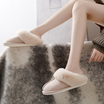 Suihyung Winter Women Fur Slippers Fluffy Slides Soft Warm Indoor Shoes Non-slip Home Bedroom Female Plush slippers Footwear - discount item  31% OFF Women's Shoes