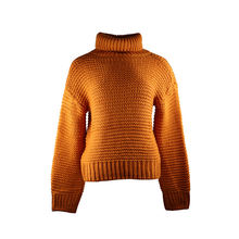 Осень зима 2020 теплый свитер с оранжевым пуловером осенний