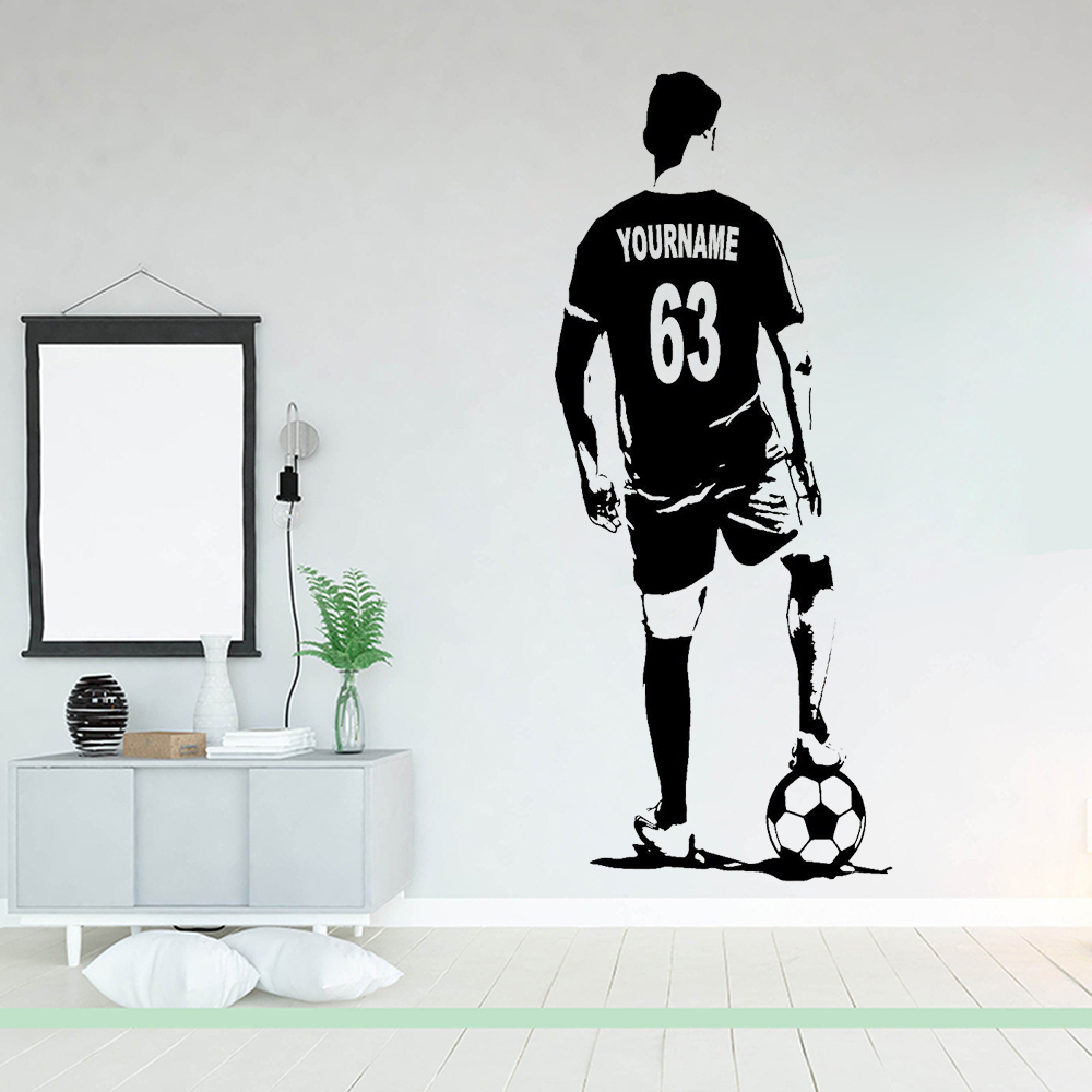 4 Different Views Vinyl Decal Free Ship 736 Soccer Players