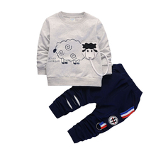 New Arrival Autumn Boy Clothing Set Kids Sports Suit Children Tracksuit Girls Tshirt Pant Baby Sweatshirt Cartoon Casual Clothes autumn winter boys clothing set 2017 new cute pullover sweatshirt pant kids suits cotton casual toddler boy clothes outfit suit