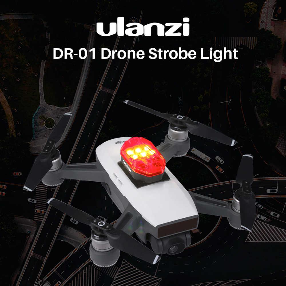 Ulanzi DR-01 Mavic اكسسوارات صغيرة ضوء إحترافي أحمر أخضر أبيض مصدر أضواء الملاحة الليلية ل DJI MAVIC طائرة بدون طيار صغيرة