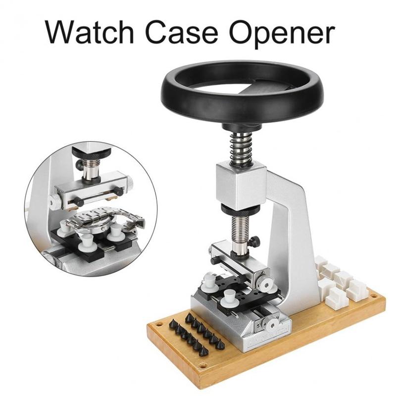 5700 Bench Horloge Case Opener Horloge Tool Terug Opener met 6 Sterft voor Horloge Reparatie Onderdelen Gereedschap voor Horlogemakers - 5