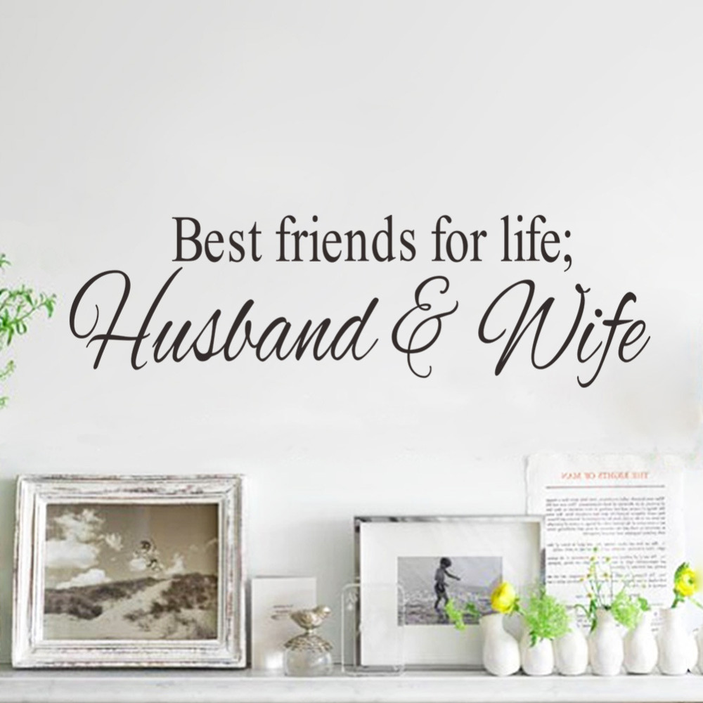 Exclusive Direct Best Friends Carved English Proverb Art Wall Sticker Home Furnishing Decor PVC Wallpaper Children Room image