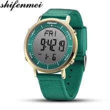 Shifenmei reloj Digital para Hombre y mujer, Relojes de Piloto Militar deportivos, Relojes de mano dobles para Hombre, resistente al agua, de pulsera de 30m