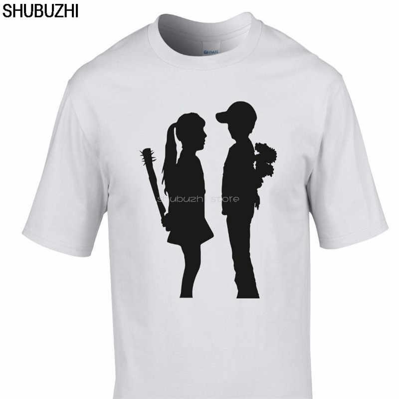 Hip Hop Pria T-shirt Lengan Pendek Atasan Banksy Boy Meets Girl T-shirt Urban Art Graffiti Baru Katun T kemeja Sbz6191